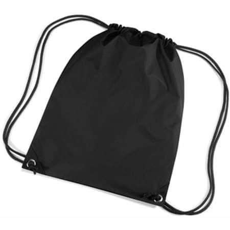 Premium Gymsac in Black von BagBase (Artnum: BG10