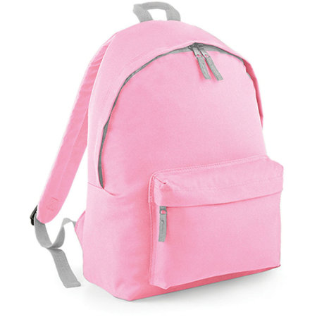 Junior Fashion Backpack in Classic Pink|Light Grey von BagBase (Artnum: BG125J