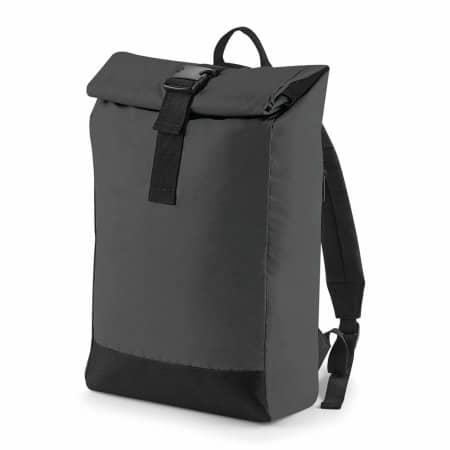 Reflective Roll-Top Backpack von BagBase (Artnum: BG138