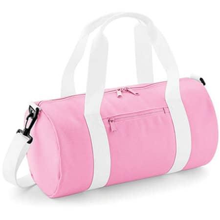 Mini Barrel Bag in Classic Pink|White von BagBase (Artnum: BG140S