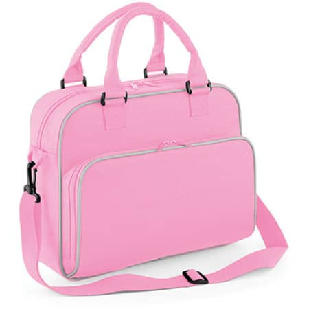 Junior Dance Bag in Classic Pink|Light Grey von BagBase (Artnum: BG145