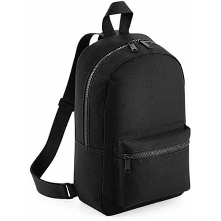 Mini Essential Fashion Backpack in Black von BagBase (Artnum: BG153