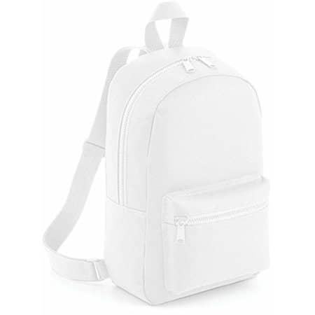 Mini Essential Fashion Backpack in White von BagBase (Artnum: BG153