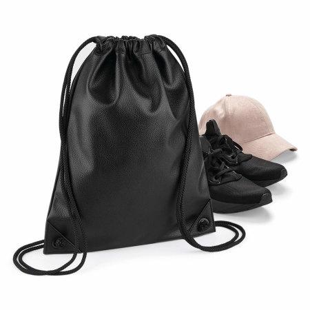 Faux Leather Gymsac von BagBase (Artnum: BG250