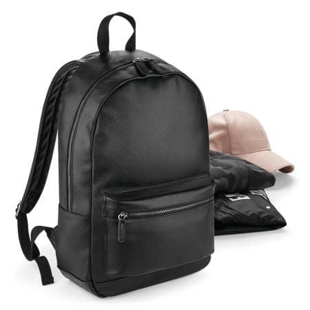 Faux Leather Fashion Backpack von BagBase (Artnum: BG255