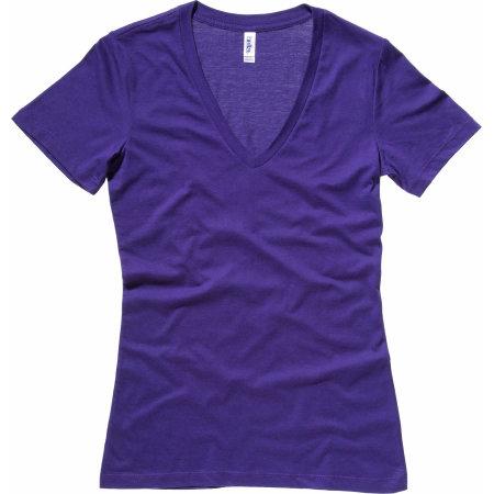Women`s Jersey Deep V-Neck T-Shirt von Bella (Artnum: BL6035