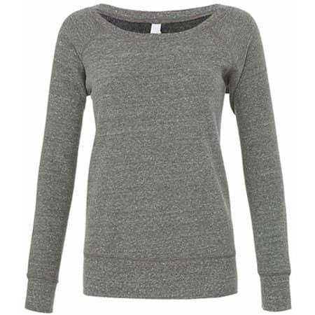 Women`s Sponge Fleece Wide Neck Sweatshirt in Grey Triblend (Heather) von Bella (Artnum: BL7501