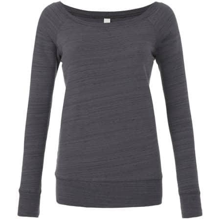Women`s Sponge Fleece Wide Neck Sweatshirt von Bella (Artnum: BL7501