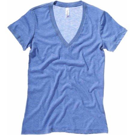 Women`s Triblend Deep V-Neck T-Shirt von Bella (Artnum: BL8435
