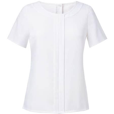Women`s Felina Short Sleeve Blouse in White von Brook Taverner (Artnum: BR801