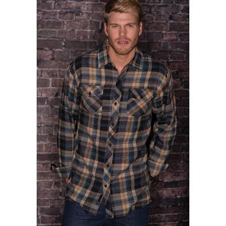 Woven Plaid Flannel Shirt von Burnside (Artnum: BU8210