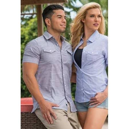 Woven Texture Shirt von Burnside (Artnum: BU9247