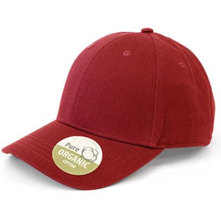 Organic Cotton Cap in Red von Brain Waves (Artnum: BW7017