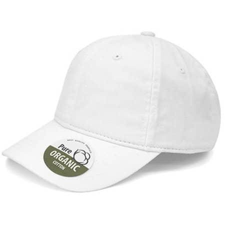 Organic Cotton Cap in White von Brain Waves (Artnum: BW7017