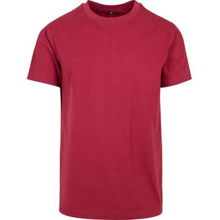 T-Shirt Round Neck in Burgundy von Build Your Brand (Artnum: BY004