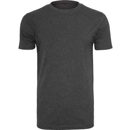 T-Shirt Round Neck in Charcoal (Heather) von Build Your Brand (Artnum: BY004