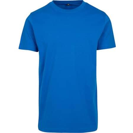 T-Shirt Round Neck in Cobaltblue von Build Your Brand (Artnum: BY004