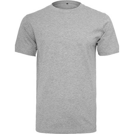 T-Shirt Round Neck in Heather Grey von Build Your Brand (Artnum: BY004
