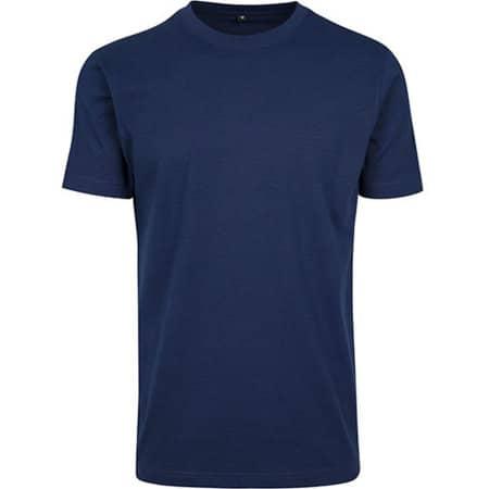 T-Shirt Round Neck in Navy von Build Your Brand (Artnum: BY004
