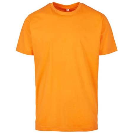 T-Shirt Round Neck in Paradise Orange von Build Your Brand (Artnum: BY004