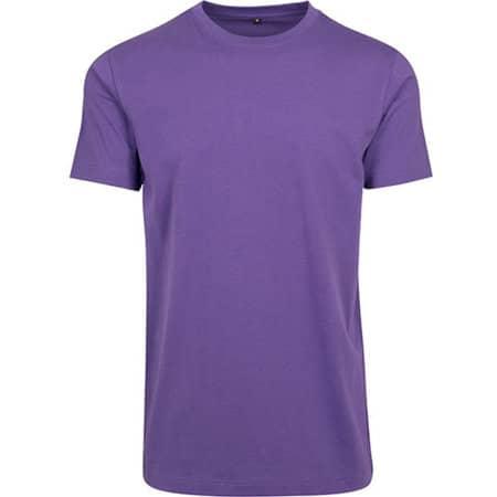 T-Shirt Round Neck in Ultraviolett von Build Your Brand (Artnum: BY004