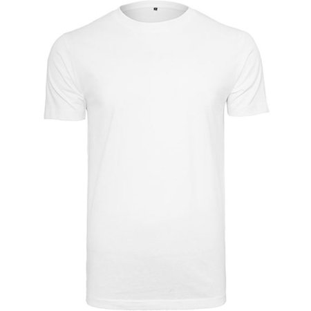 T-Shirt Round Neck in White von Build Your Brand (Artnum: BY004