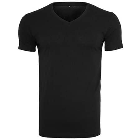 Light T-Shirt V-Neck in Black von Build Your Brand (Artnum: BY006