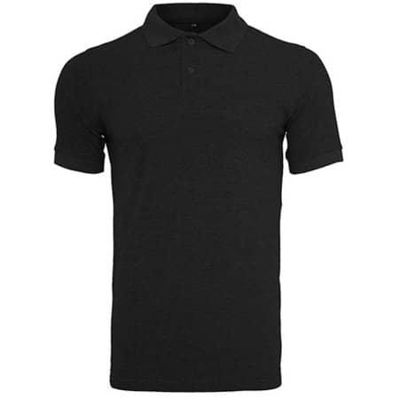 Polo Piqué Shirt in Black von Build Your Brand (Artnum: BY008