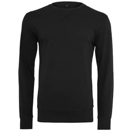 Light Crew Sweatshirt in Black von Build Your Brand (Artnum: BY010