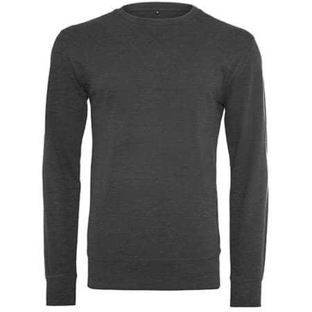 Light Crew Sweatshirt in Charcoal (Heather) von Build Your Brand (Artnum: BY010