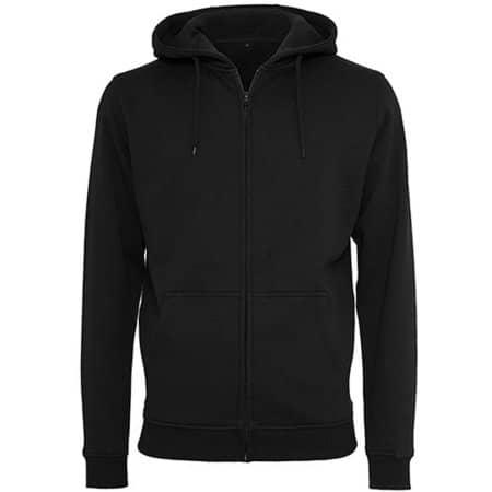 Heavy Zip Hoody in Black von Build Your Brand (Artnum: BY012