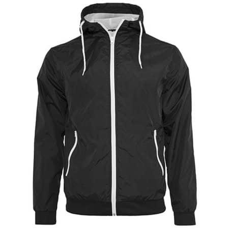 Windrunner Jacket in Black|White von Build Your Brand (Artnum: BY016