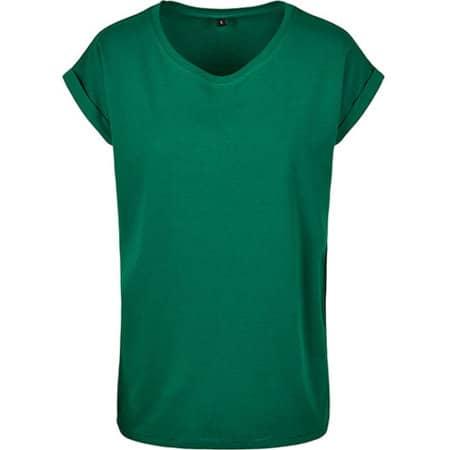 Ladies` Extended Shoulder Tee in Forest Green von Build Your Brand (Artnum: BY021