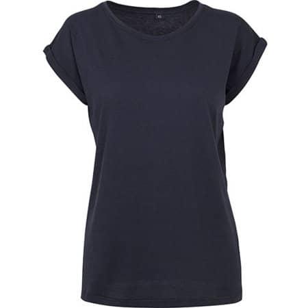 Ladies` Extended Shoulder Tee in Navy von Build Your Brand (Artnum: BY021