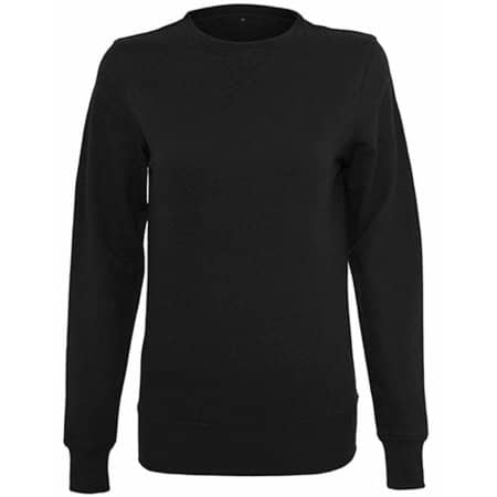 Ladies` Light Crewneck in Black von Build Your Brand (Artnum: BY025