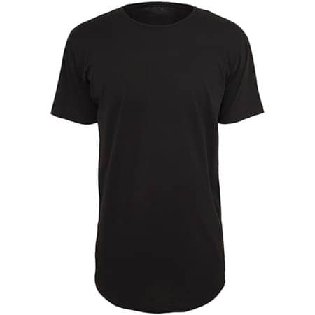 Shaped Long Tee in Black von Build Your Brand (Artnum: BY028