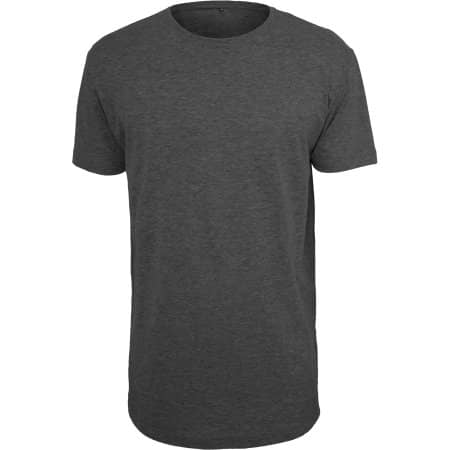 Shaped Long Tee in Charcoal (Heather) von Build Your Brand (Artnum: BY028