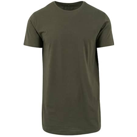 Shaped Long Tee in Olive von Build Your Brand (Artnum: BY028