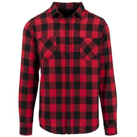 Checked Flannel Shirt in Black|Red von Build Your Brand (Artnum: BY031