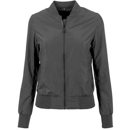 Ladies` Nylon Bomber Jacket in Black von Build Your Brand (Artnum: BY044