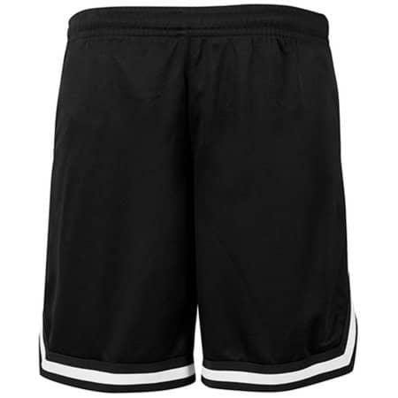 Two-tone Mesh Shorts in Black Black White von Build Your Brand (Artnum: BY047