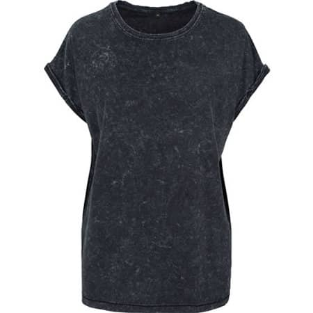 Ladies` Acid Washed Extended Shoulder Tee von Build Your Brand (Artnum: BY053
