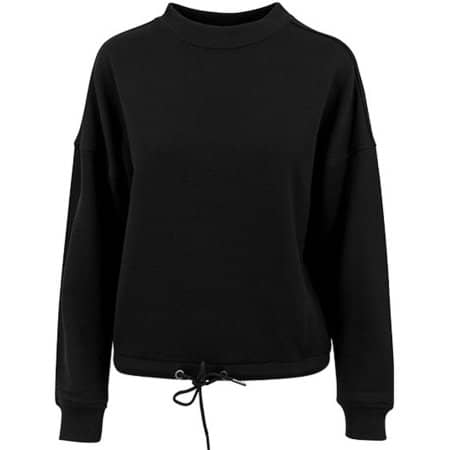Ladies` Oversize Crewneck in Black von Build Your Brand (Artnum: BY058