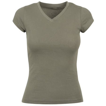 Ladies Basic Tee Regular in Olive von Build Your Brand (Artnum: BY062