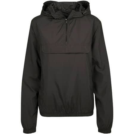 Ladies Basic Pull Over Jacket in Black von Build Your Brand (Artnum: BY095