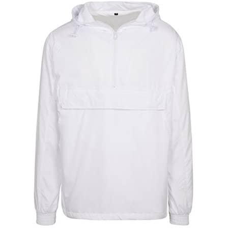Basic Pull Over Jacket in White von Build Your Brand (Artnum: BY096