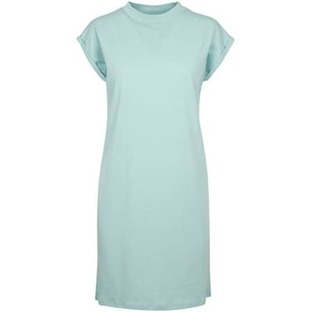 Ladies Turtle Extended Shoulder Dress in Blue Mint von Build Your Brand (Artnum: BY101
