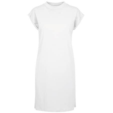 Ladies Turtle Extended Shoulder Dress in White von Build Your Brand (Artnum: BY101