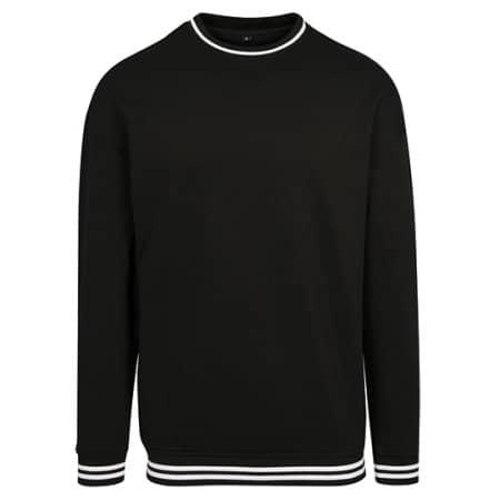 College Sweat Crew in Black|White von Build Your Brand (Artnum: BY104