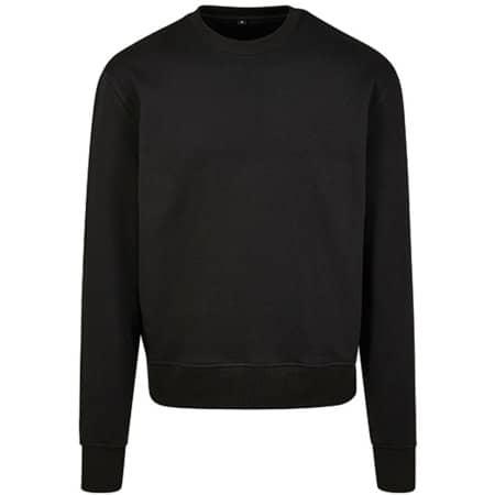 Premium Oversize Crewneck Sweatshirt in Black von Build Your Brand (Artnum: BY120